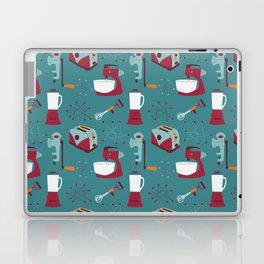 Retro Kitchen - Teal and Raspberry Laptop & iPad Skin