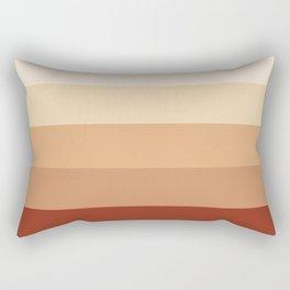 Burnt Orange Rainbow - Warm Red Gradient by Design by Cheyney Rectangular Pillow