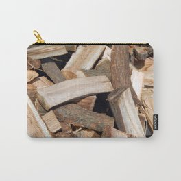 Firewood for heating the house of the deck into the oven Carry-All Pouch