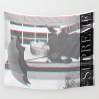 supreme Wall Tapestries featuring Jessica Lange Fiona Goode Supreme by NameGame
