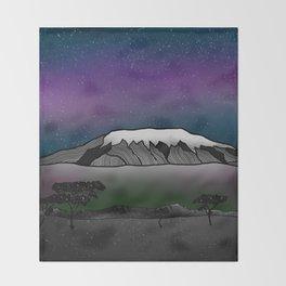 Mount Kilimanjaro Throw Blanket