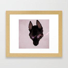 black shuck Framed Art Print