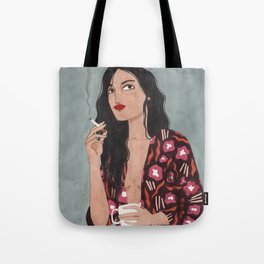 Coffe and cigarettes Tote Bag