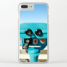 Beach Viewer Binoculars Clear iPhone Case