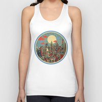 shipping Tank Tops featuring philadelphia by Bekim ART