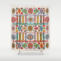 southwest Shower Curtains featuring Southwest by Helene Michau