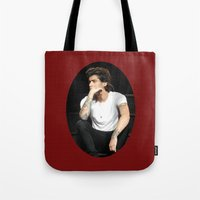 zayn Tote Bags featuring Zayn  by clevernessofyou