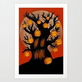 Halloween Tree Art Print