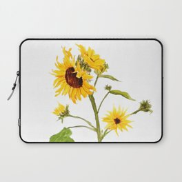 One sunflower watercolor arts Laptop Sleeve