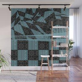 2in1 Pattern Mix, George,aqua Wall Mural