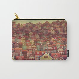 Cute City Street Scene ,Many Houses Carry-All Pouch