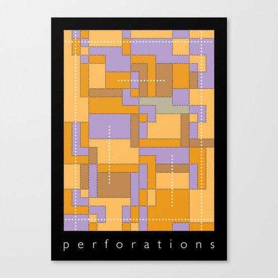 Perforations Canvas Print