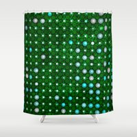 led zeppelin Shower Curtains featuring led green by Fringed violet