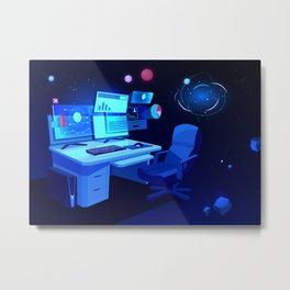 Synthwave Space: Space home Metal Print