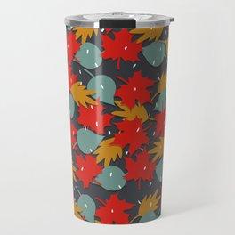 Falling red leaves Travel Mug