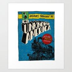 Unknown America Comics #1 Art Print