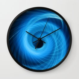 Eye Of The Storm Fiber Optic Light Painting Wall Clock