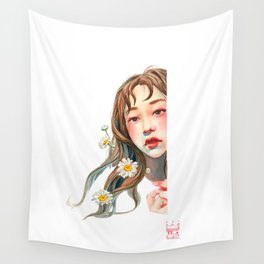 the purest mind blossomed. Wall Tapestry