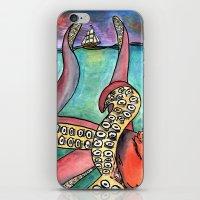 kraken iPhone & iPod Skins featuring Kraken by Indigo22