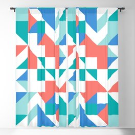 Angled Reflected Artwork Blackout Curtain
