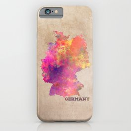 Germany map iPhone Case