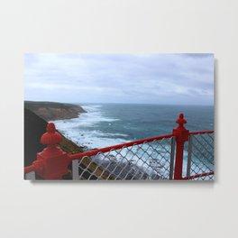 Red to Ocean Metal Print