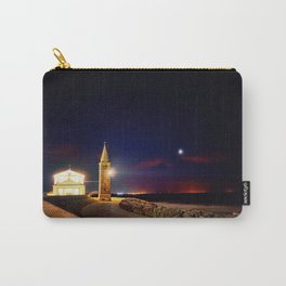 Church and lighthouse on the sea coast Carry-All Pouch