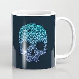 Labyrinthine Skull - Neon Coffee Mug