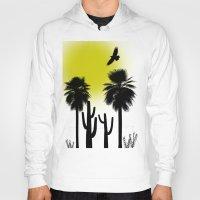 desert Hoodies featuring desert by Bamse