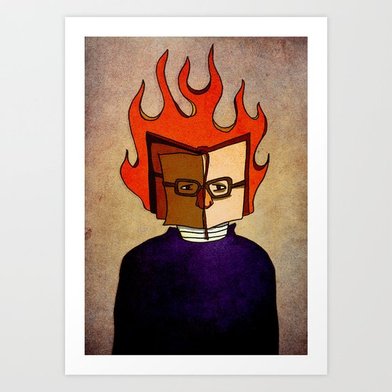 Prophets of Fiction - Ray Bradbury /Fahrenheit 451 Art Print