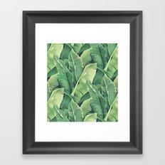 Banana leaves IV Framed Art Print
