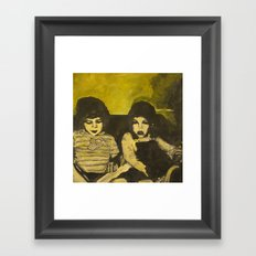 Green Children Framed Art Print