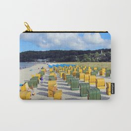 Beach chairs, yellow green Carry-All Pouch
