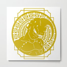 Stained Glass - Dragonball - Majin Buu Metal Print