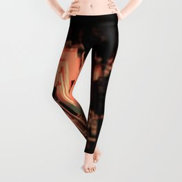 Cityscape technology microchip urban intricate pattern texture geometric background Leggings