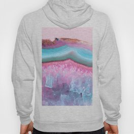 Rose Quartz and Serenity Agate Hoody