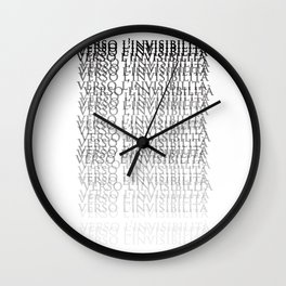 Towards invisibility - Verso l'invisibilità Wall Clock