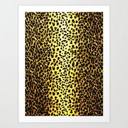 Leopard Print Animal Wallpaper Art Print