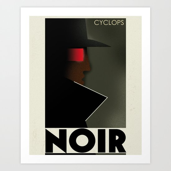 CASSANDRE SPIRIT - Cyclops Noir Art Print