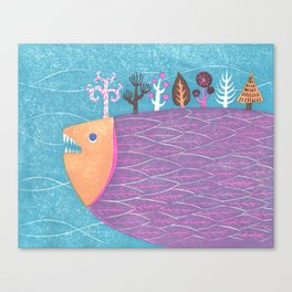 Fish Forest Canvas Print