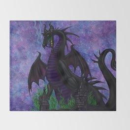 Dragon Maleficent Throw Blanket