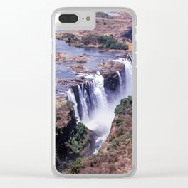 Aerial view of Victoria Falls Clear iPhone Case