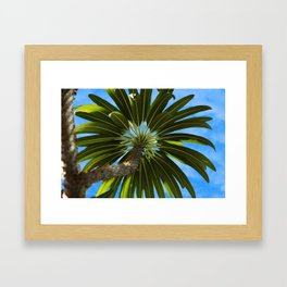 Under the Palm Tree Framed Art Print