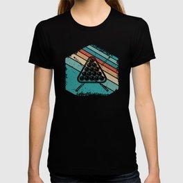 Retro sunset billiard gifts T-shirt