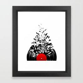 Vinyl shatter Framed Art Print