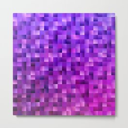 Geometrical abstract square background Metal Print