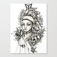 fairy Canvas Prints featuring Fairy by Anca Chelaru