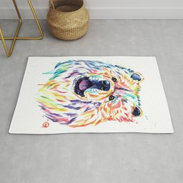 Chow Chow Dog Watercolor Painting By Lisa Whitehouse Rug