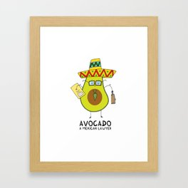 Avocado - A mexican lawyer Framed Art Print
