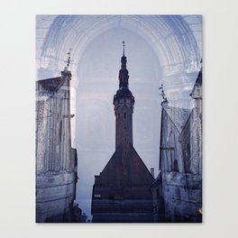 Tallin. Old town. Reflection. Canvas Print